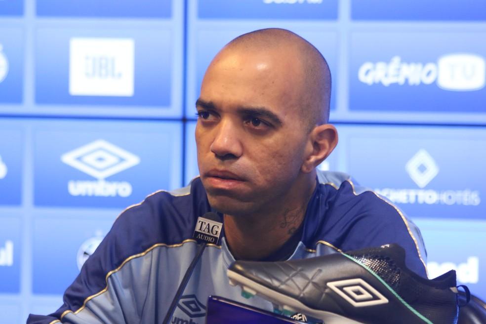 Diego Tardelli, do Grêmio — Foto: Eduardo Moura