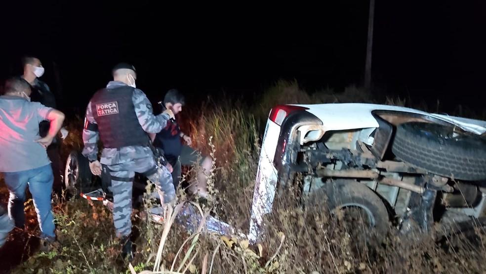 José Francisco Parada Saucedo, de 30 anos, dirigia uma caminhonete Hilux que capotou em Juína — Foto: Juína News