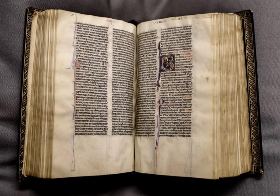O exemplar da Bíblia que foi reencontrado  (Foto: Divulgação)