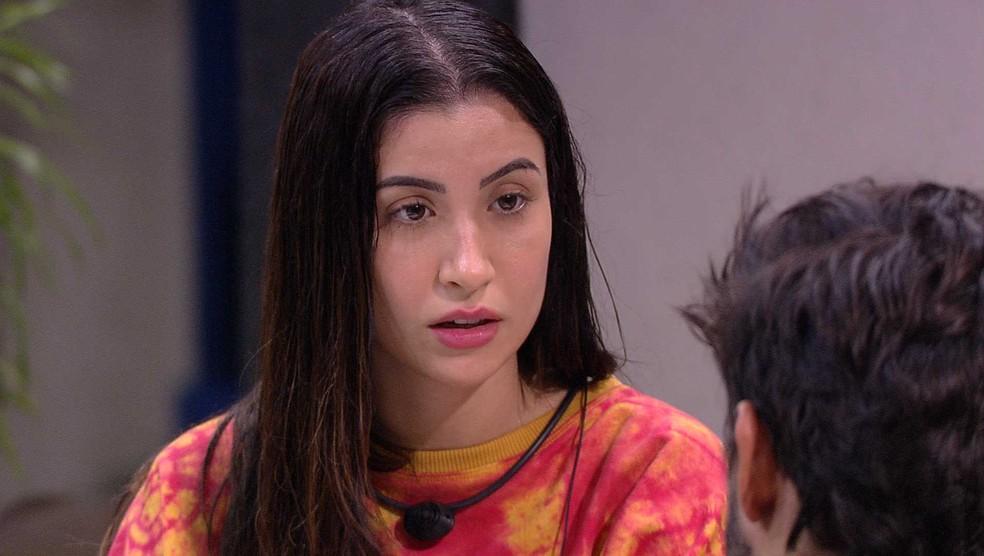 Bianca conversa com Guilherme sobre afastamento: 'Era o mínimo que eu poderia fazer' — Foto: Globo