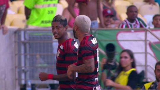 Bruno Henrique aproveita passe de Pará e abre o placar no Fla-Flu