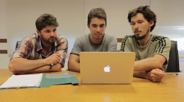 Os fundadores da BeeFlow (Foto: Divulgação)