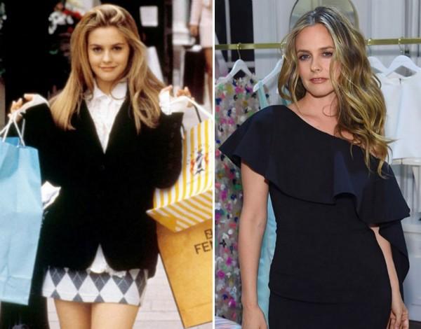 A atriz Alicia Silverstone, hoje e na época de As Patricinhas de Beverly Hills (1995) (Foto: Instagram/Reprodução)