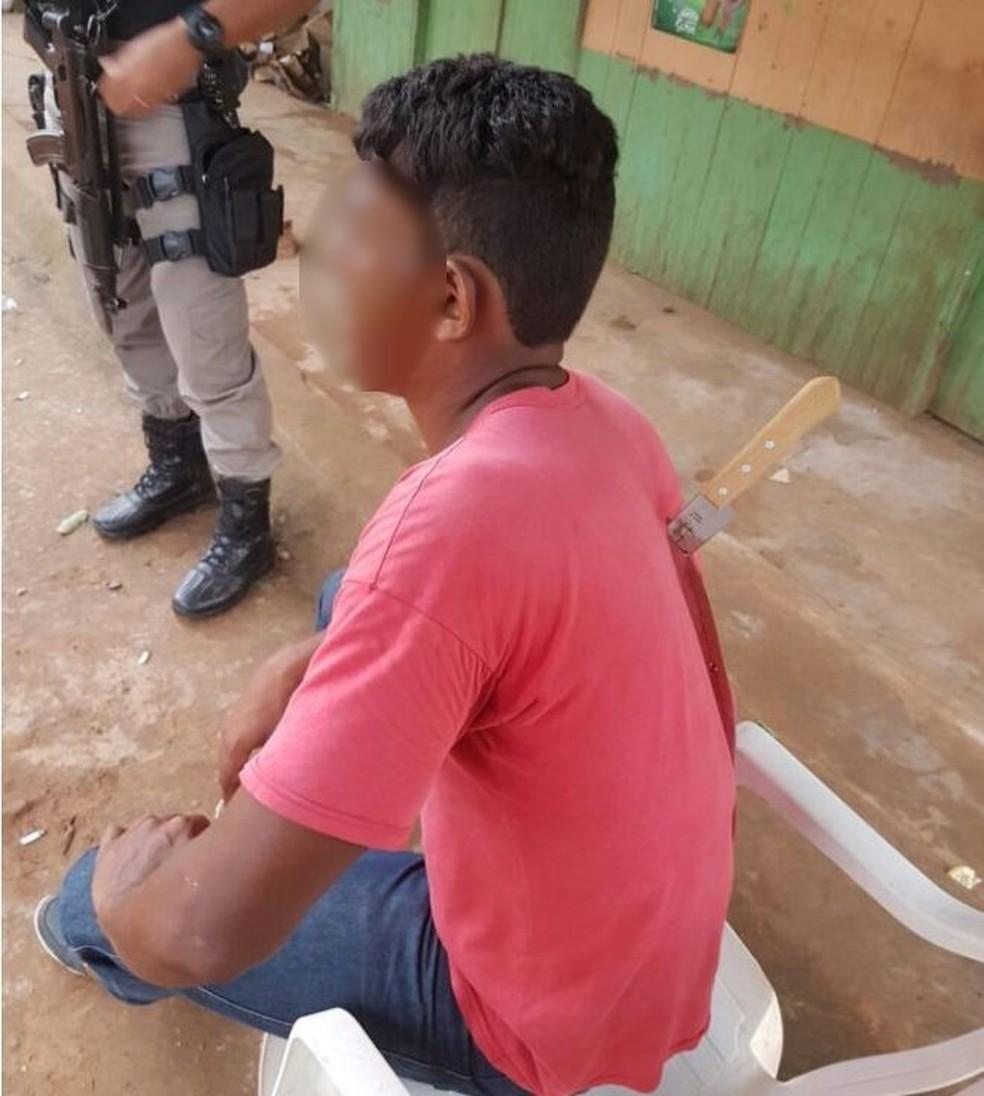 Vítima foi socorrida e levada para o hospital  (Foto: Reprodução/WhatsApp)