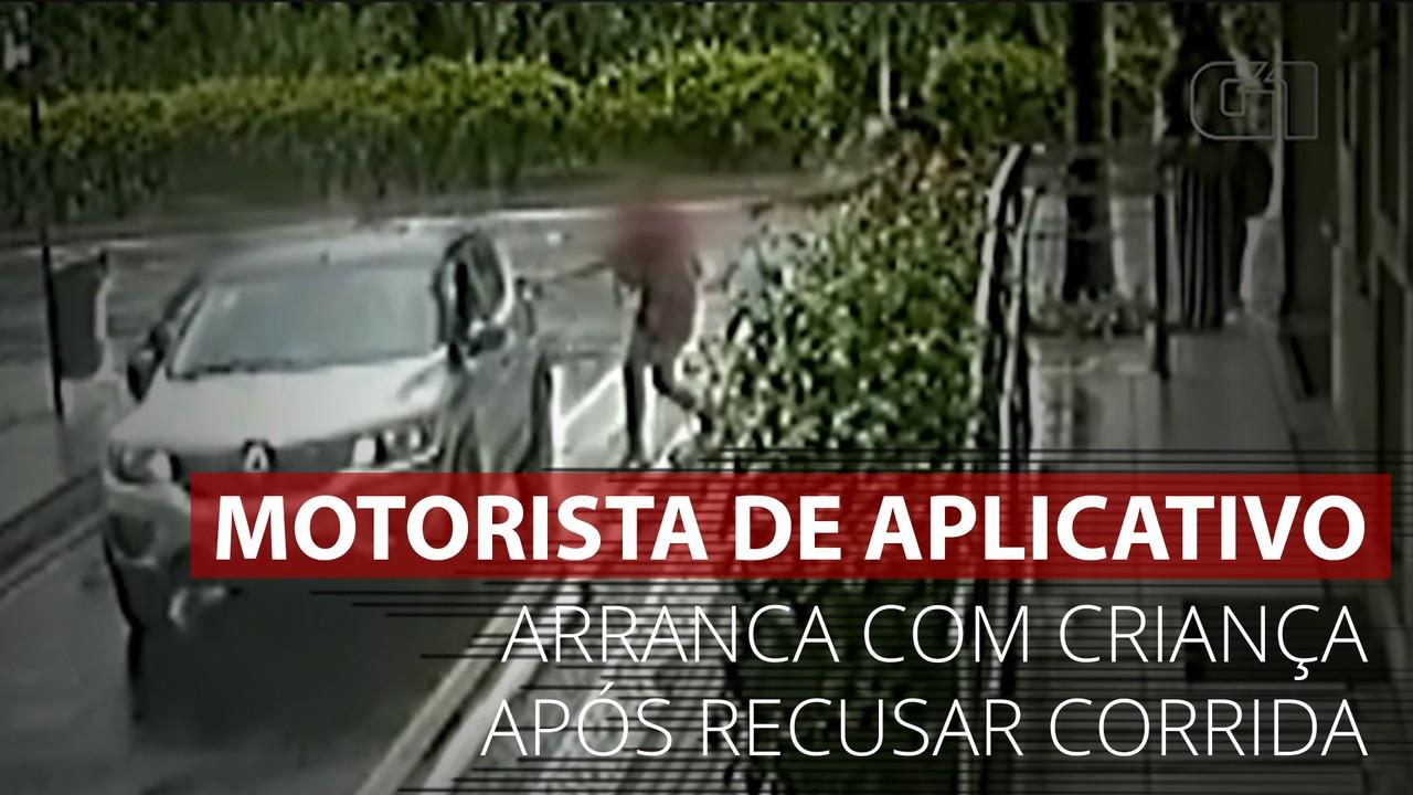 VÍDEO: Imagens mostram momento em que motorista de app arranca com carro com criança em SC