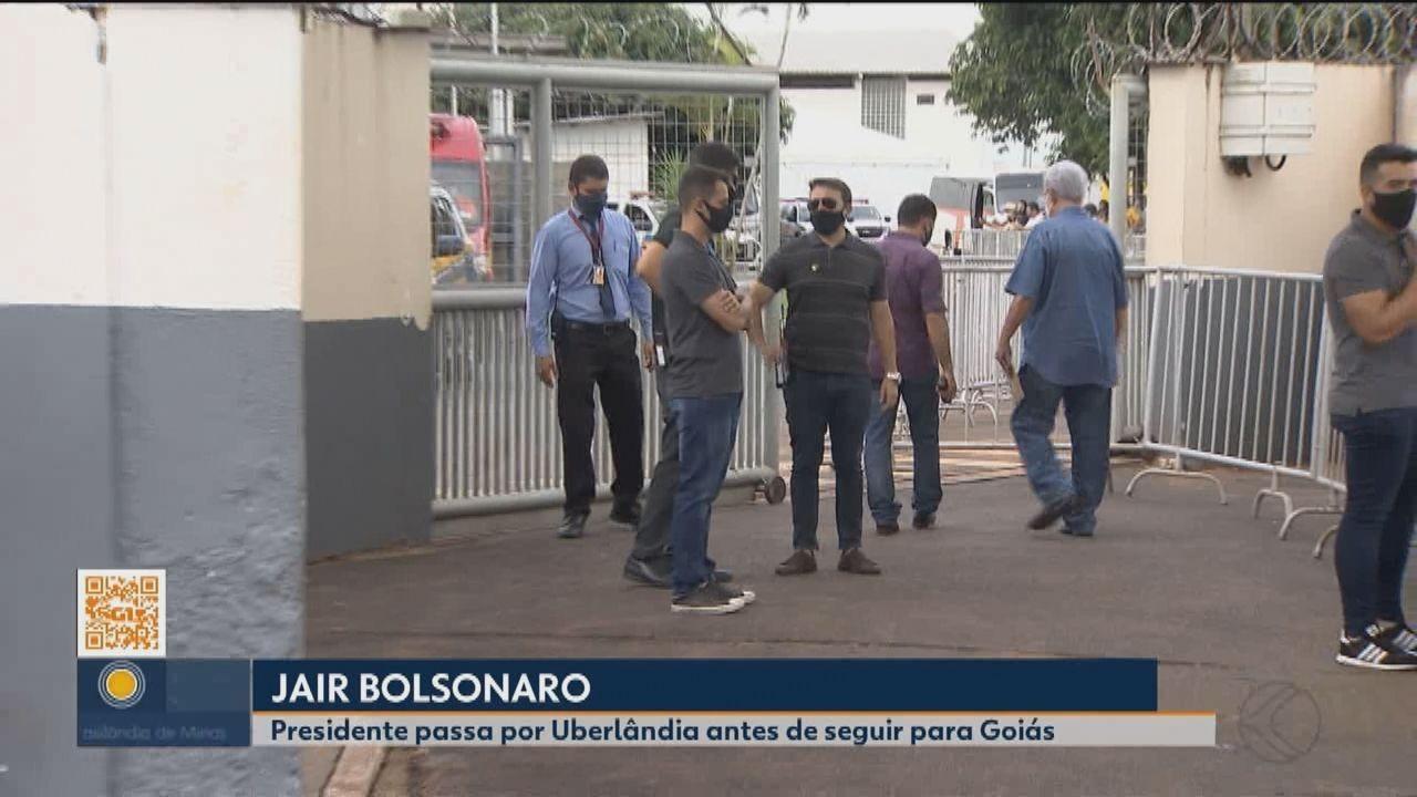 Bolsonaro é recebido no Triângulo por autoridades para inauguração de ferrovia