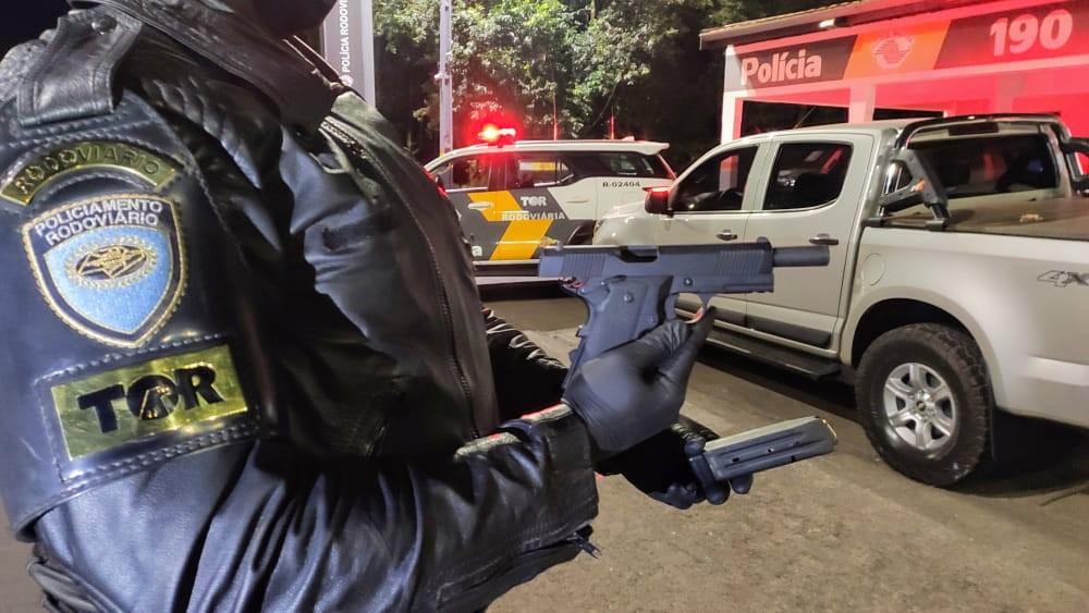 Motorista é preso após ser flagrado com pistola na Rodovia Marechal Rondon em Andradina