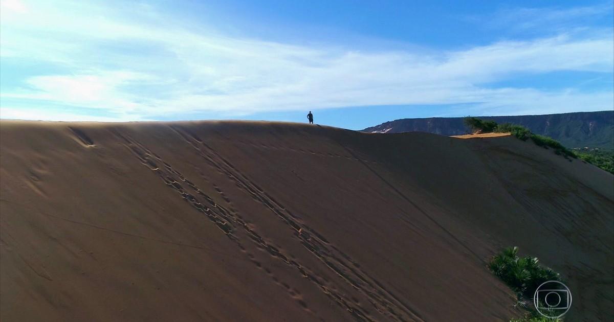 Resultado de imagem para Maior duna do Jalapão tem 40 metros de altura e a cada ano cresce mais