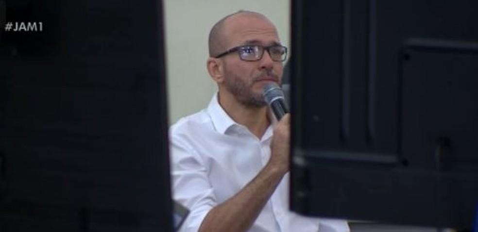 Delegado Gustavo de Castro Sotero, acusado de cometer homicídio triplamente qualificado do advogado Wilson Justo Filho — Foto: Rede Amazônica/Reprodução