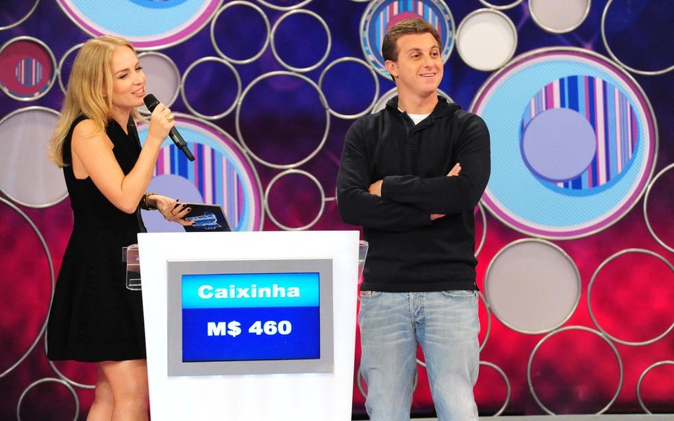 Luciano Huck participou do 'Vídeo Game' — Foto: João Miguel Junior/TV Globo