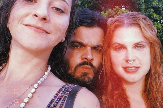 Lucas Rangel, Caroline Figueiredo e uma amiga (Foto: Reprodução/Instagram)