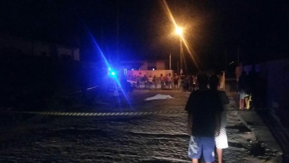 Noite da segunda-feira (4) foi violenta em Ceará-Mirim, que registrou dois assassinatos (Foto: Sérgio Henrique Santos/Inter TV Cabugi)