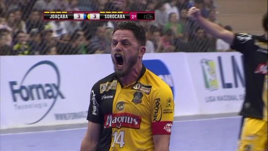 ... vantagem na liderança da Liga Nacional de Futsal. Falcão e Rodrigo  marcam 13283b8edba85