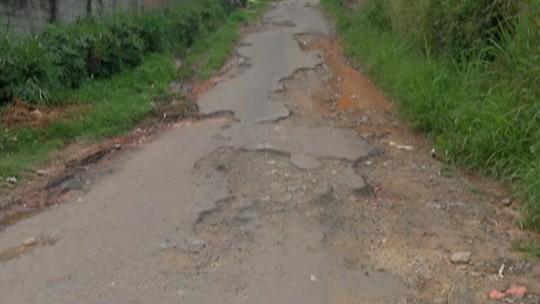 Após nove meses, problemas nas ruas da Granja Urupês, em Santa Isabel, ainda não foram resolvidos