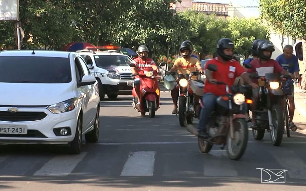 Traumatismo craniano está entre as lesões mais graves sofridas pelos motociclistas, diz Samu (Foto: Reprodução/TV Mirante)