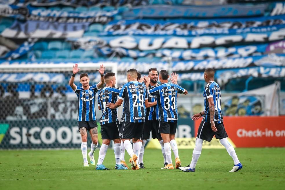 Grêmio tem intenção de retomar melhores dias na Arena — Foto: Lucas Uebel/Grêmio