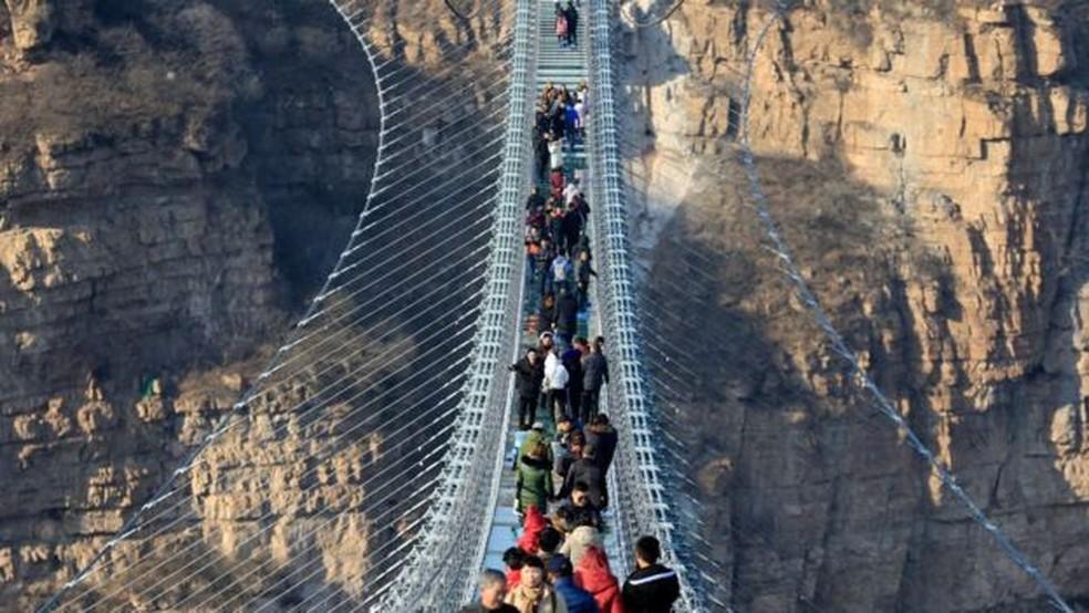 A ponte Hongyagu, em Hebei — Foto: Getty Images/BBC