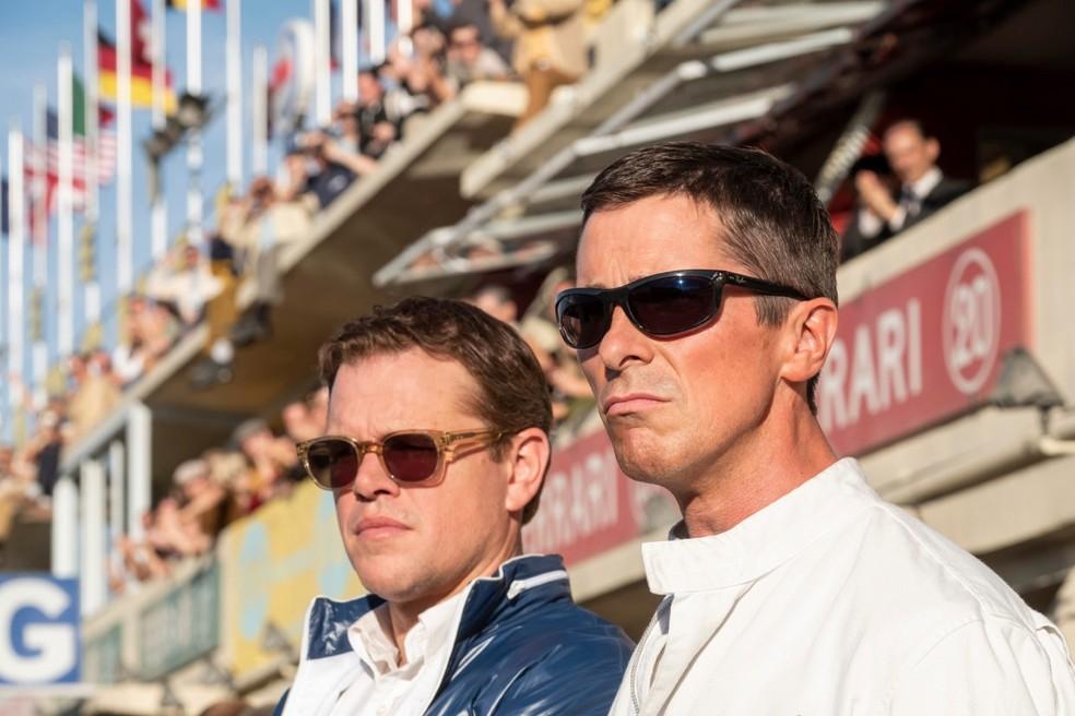 Matt Damon e Christian Bale em 'Ford vs Ferrari' — Foto: Reprodução