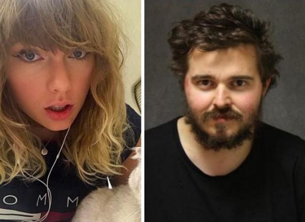 A cantora Taylor Swift e o fã que a queria pedir em casamento após jogar US$ 1,6 mil no portão da casa da artista (Foto: Instagram/Divulgação)