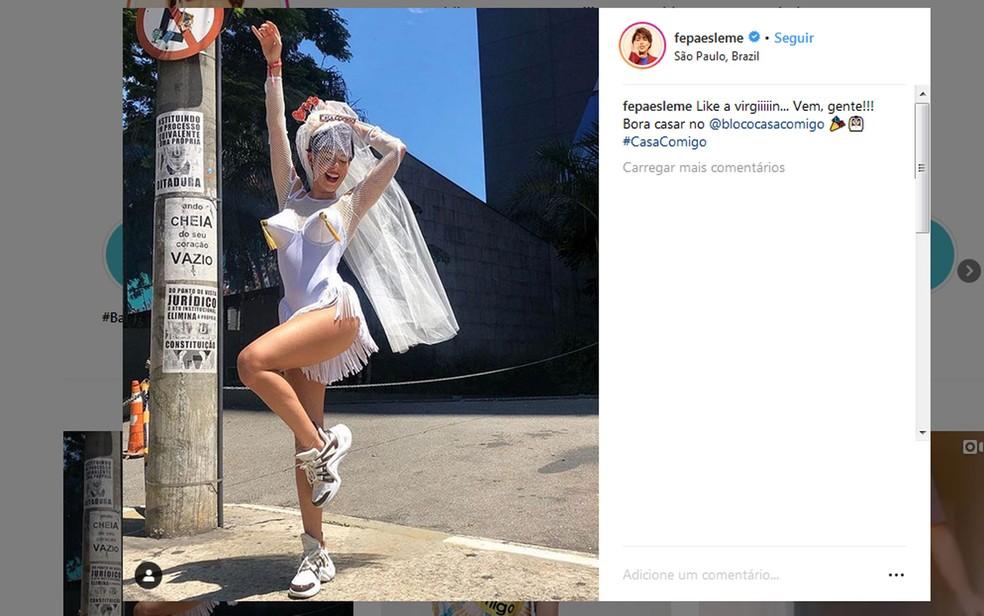 Fernanda Paes Leme estreia como madrinha do Casa Comigo — Foto: Reprodução/Rede social