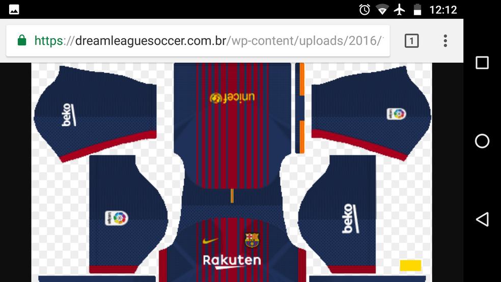 timeless design 22561 fc585 Dream League Soccer 2018: como adicionar uniformes oficiais ...