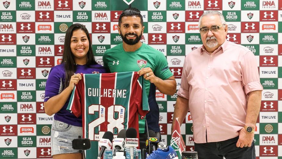 Apresentado depois da estreia, Guilherme se vê como aliado de Ganso no Fluminense