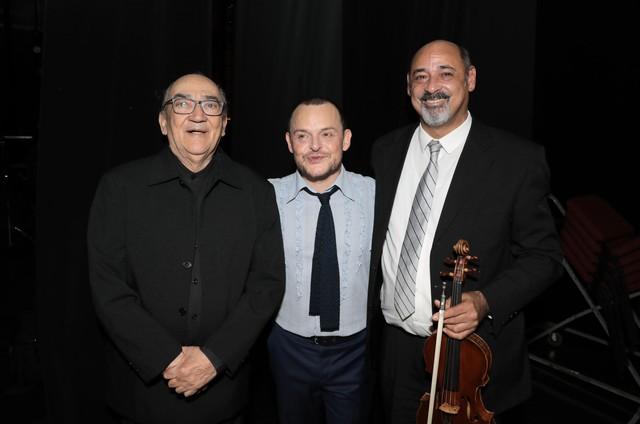 Matheus Nachtergaele com Clovis Pereira e Clovis Pereira Filho (Foto: Divulgação)