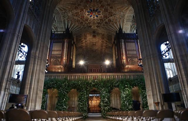 Decoração da capela de Saint George, em Windsor (Foto: Getty Images)