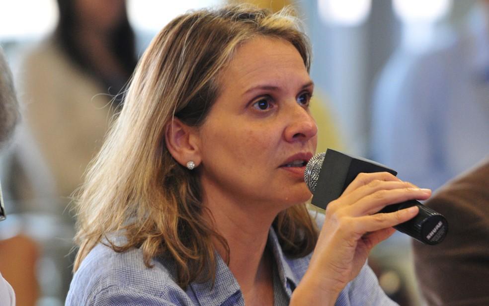 A secretária de Planejamento, Leany Lemos, durante entrevista (Foto: Renato Araújo/Agência Brasília)