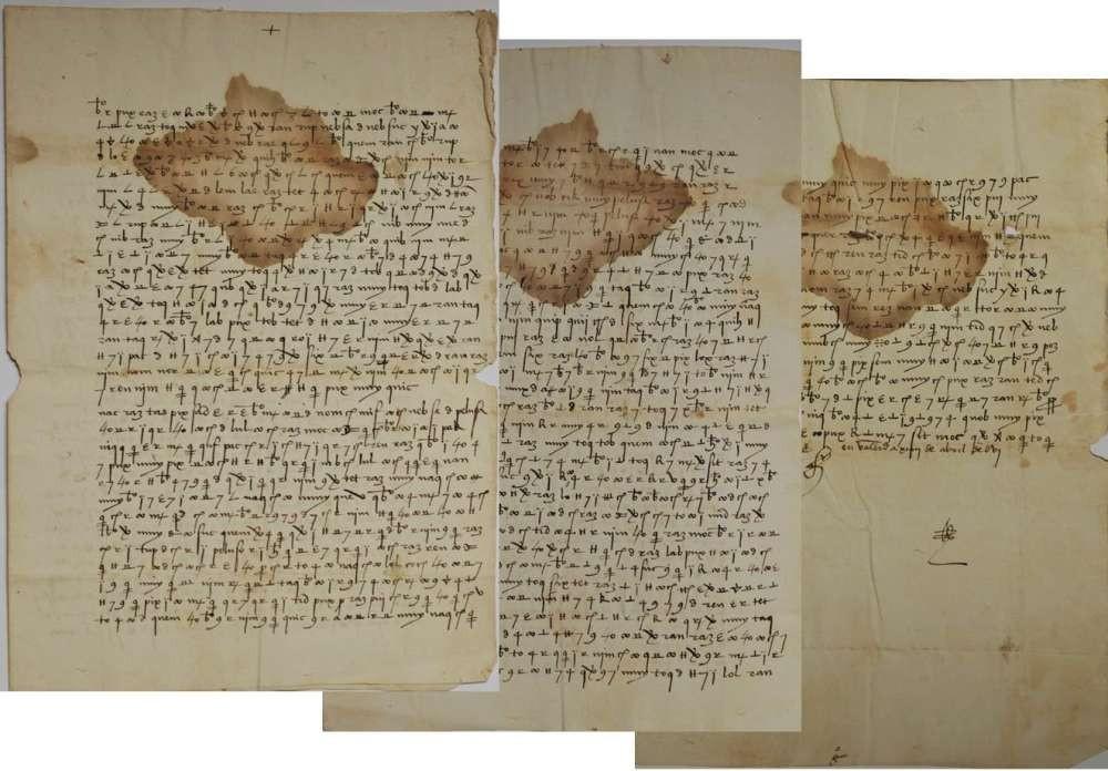 Cartas trocadas pelo rei espanhol (Foto: Divulgação/CNI)