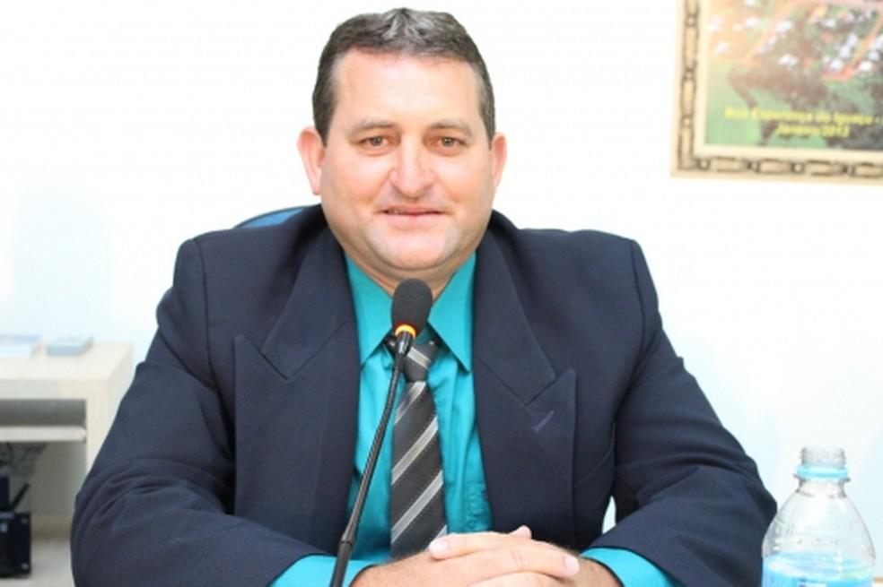 segundo as investigações, a irregularidade foi cometida no início de 2018, quando Valdir da Silva, o Dile, era presidente da Câmara de Boa Esperança do Iguaçu — Foto: Câmara Municipal de Boa Esperança do Iguaçu/Divulgação