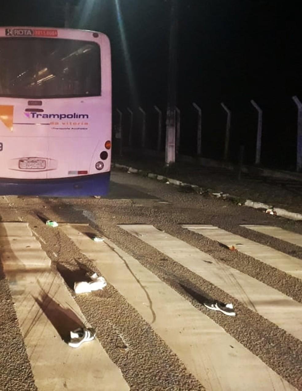 Acidente aconteceu na Av. Coronel Estevam, ao lado da rodoviária. — Foto: PMRN/Divulgação