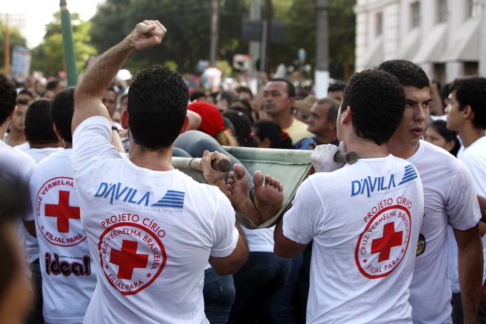 -  Cruz Vermelha vistoria corredores de emergência do trajeto do Círio, em Belém.  Foto: Divulgação/Agência Pará