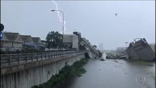Queda de ponte na Itália mata 35 e deixa 9 em estado grave