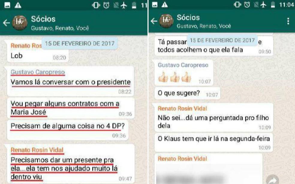 Acusados sugerem 'dar um presente' a escrivã da Polícia Civil em Ribeirão Preto — Foto: Ministério Público/Divulgação