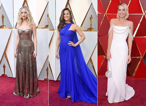 Jennifer Lawrence, Jennifer Garner e Margot Robbie (Foto: Getty Images)