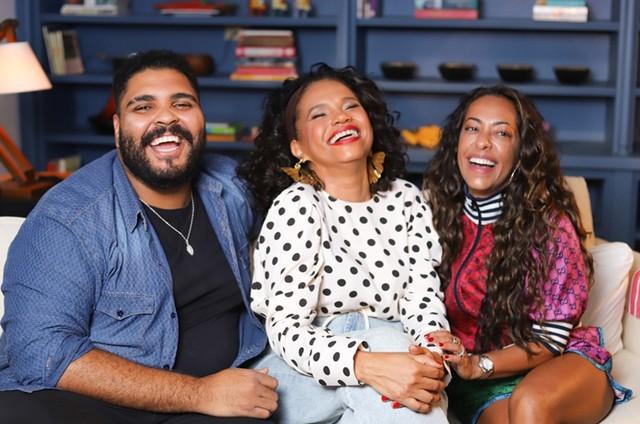 Paulo Vieira, Teresa Cristina e Samantha Schmütz (Foto: Divulgação)
