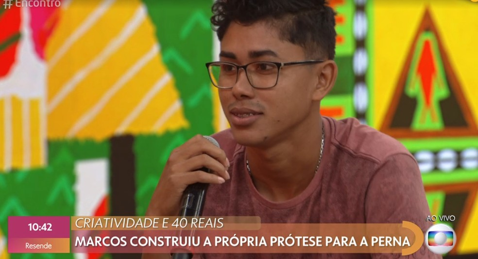 Convidado do 'Encontro' — Foto: TV Globo