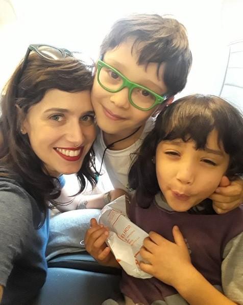 Mel Lisboa e os filhos (Foto: Reprodução / Instagram)