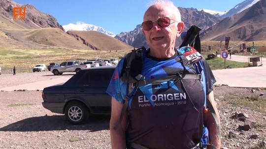 Na montanha aos 78 anos