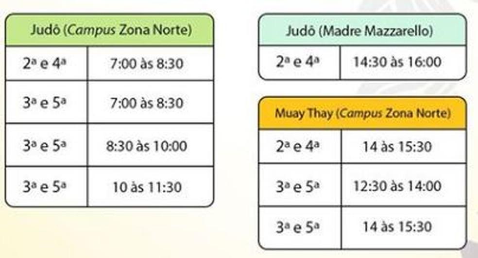 Confira os horários e os locais de aula — Foto: Facebook/IFRO