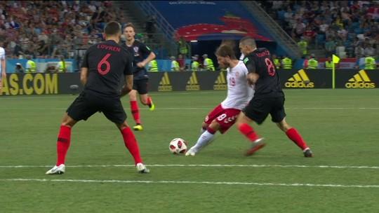Melhores momentos: Croácia 1 (3 ) x (2) 1 Dinamarca pelas oitavas de final da Copa