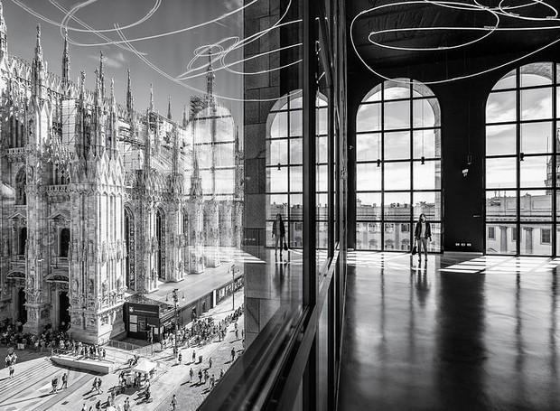 Marco Tagliarino, da Itália, clicou o Duomo de Milão a partir do Palazzo dell'Arengario (Foto: Architectural Photography Awards/Reprodução)