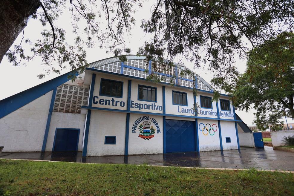 Ginásio está localizado no Centro Esportivo 'Lauro Loureiro de Mello', em Itararé (SP) — Foto: Divulgação