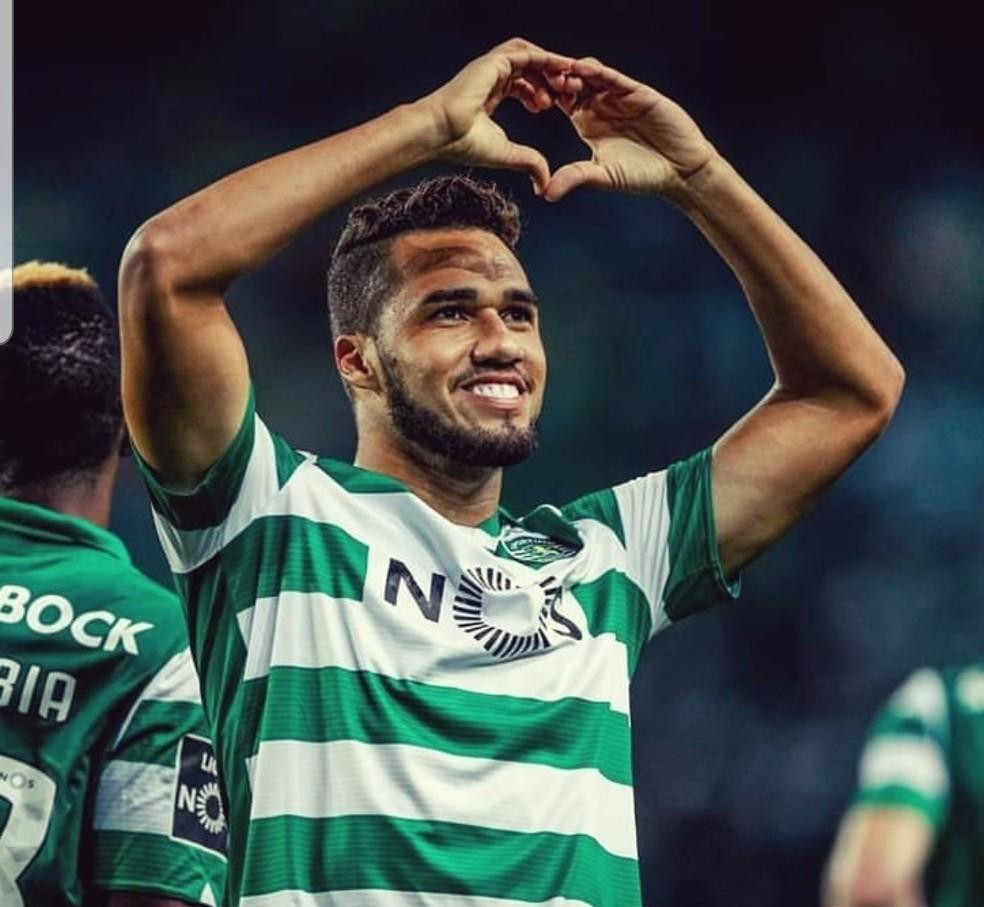 Luiz Phellype atacante Sporting gol Moreirense — Foto: Divulgação/Sporting