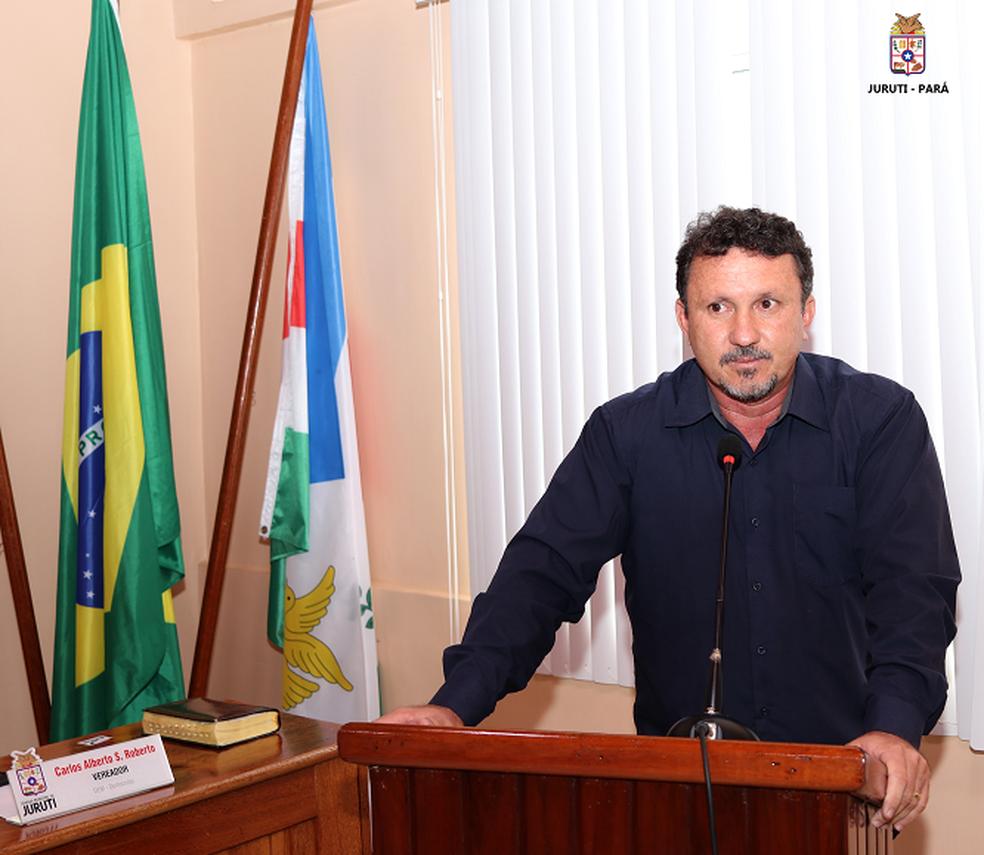 Vice-prefeito West Lima na sessão de abertura dos trabalhos legislativos na Câmara Municipal de Juruti (Foto: Prefeitura de Juruti/Divulgação)