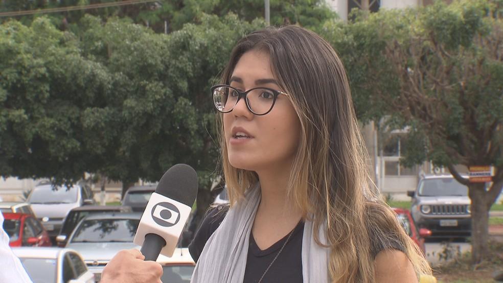 A estudante universitária Eduarda Marques, de 20 anos — Foto: TV Globo/Reprodução