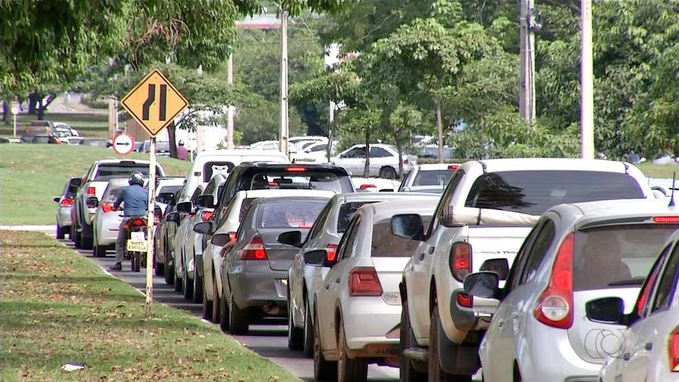 Trânsito na região central de Palmas — Foto: Reprodução/TV Anhanguera