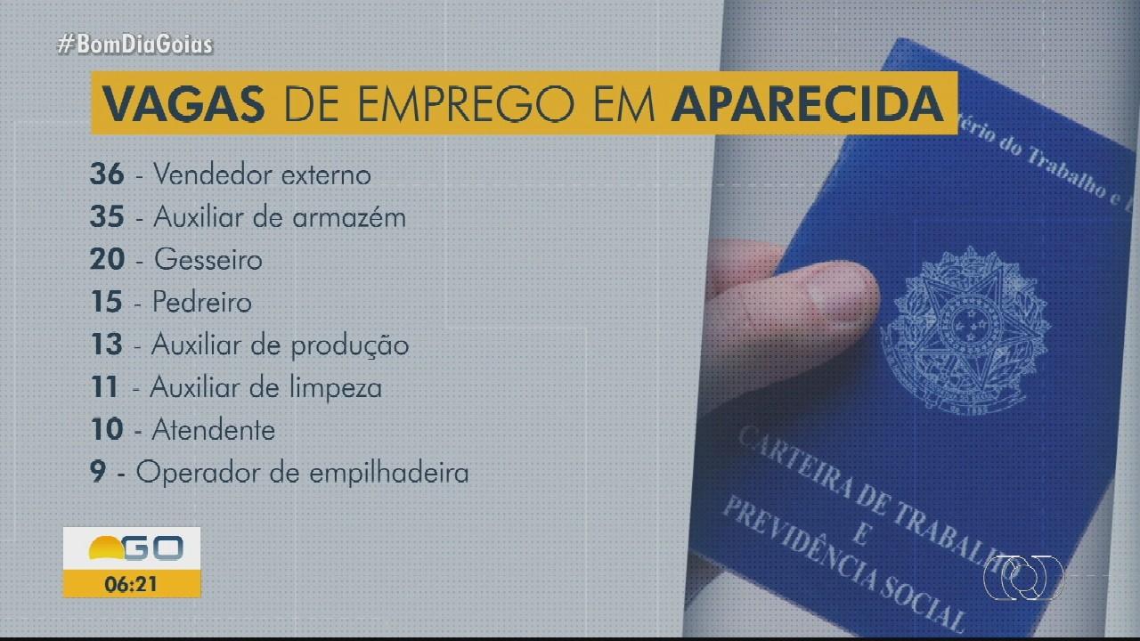 Aparecida de Goiânia tem 370 vagas de emprego