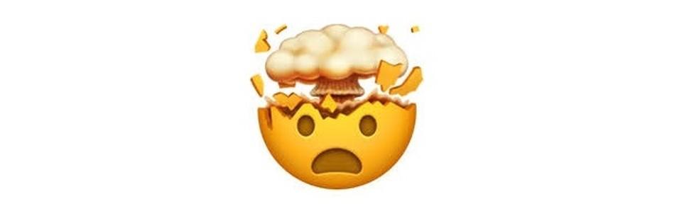 Emoji com a cabeça explodindo em estado de choque — Foto: Reprodução/TechTudo